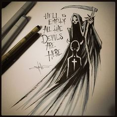 Tattoos News Pics Videos And Info Creepy Drawings, Dark Drawings, Creepy Art, Arte Horror, Horror Art, Depression Art, Desenho Tattoo, Gothic Art, Quote Aesthetic