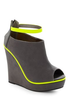 Modcloth Neon Light Rail Wedge ....size 7 please!