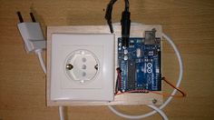 Arduino safety relay base with wall socket! www.ardumotive.com / en.ardumotive.com