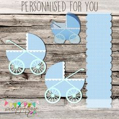 Baby Carriage  Stroller  Buggy  Baby Shower   by SweetBootique