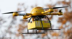 Now DHL tests a delivery drone: Airborne robots could be used to deliver medicine to hard-to-reach places