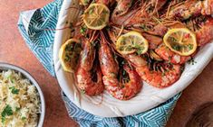 Tapas, Portuguese Recipes, Shrimp, Meat, Tuna Steaks, Cottage Meals, Quick Easy Meals, Lemon Sauce, Sweet Chili