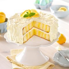 Explore this delightful recipe for Luscious Lemon Poke Cake. Simple yet scrumptious, you'll want to tell everyone about this Luscious Lemon Poke Cake! Kraft Foods, Kraft Recipes, Poke Cakes, Poke Cake Recipes, Cupcake Cakes, Layer Cakes, Mini Cupcakes, Köstliche Desserts, Dessert Recipes