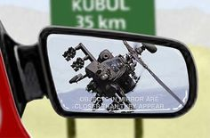 Funny Military Pictures: Objects in Mirror