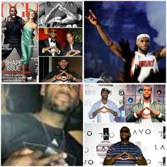 With everyone's eye glued to the idiot box watching the NBA playoffs/finals. I would like to bring to your attention Mr. Lebron James. Yes the illuminati has infiltrated the likes of sports as well. Seeking fame and fortune and the ability to stay at the top, Lebron made his deal with satan and must show who he serves.
