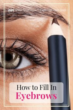 How to Fill in Eyebrows with Pencil and Powder Want to know how to fill in eyebrows? Here is a two step process to fill in your eyebrows for a long lasting, natural look. Filling In Eyebrows, Thin Eyebrows, Permanent Eyebrows, Perfect Eyebrows, Eye Brows, Make Up Tools, Smoky Eye Makeup, Makeup For Brown Eyes, Natural Beauty Tips
