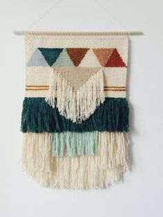 Ready to ship. Hand Woven Wall Hanging, Woven Tapestry, Weaving wall hanging