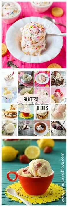 I scream, You scream! We all scream for ice cream! These ice cream recipes will keep you nice and cool this summer! via createcraftlove.com