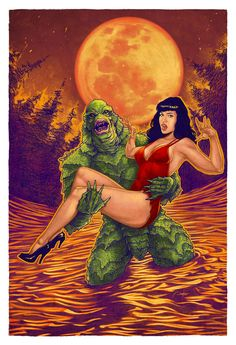 Bettie Page In The Black Lagoon by...