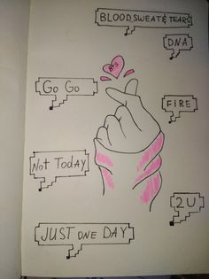 Aw so cute Kpop Drawings, Pencil Art Drawings, Art Sketches, Bts Book, Bts And Exo, Bts Playlist, Bts Fans, Kpop Fanart, I Love Bts