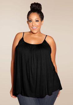 1f093e82dff  plussize  plussizefashion Pretty Cami - Black – Curvalicious Clothes TAKE  EXTRA 70% OFF