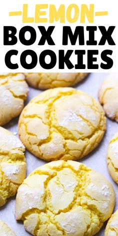 This recipe is for chewy quick and easy lemon cake mix cookies that absolutely everyone can bake! Only 4 ingredients and in less then 20 minutes your delicious cookies will be ready to enjoy. Cookie Recipes For Kids, Easy Christmas Cookie Recipes, Cake Mix Cookie Recipes, Easy Baking Recipes, Holiday Treats, Christmas Treats, Christmas Baking, Christmas Cookies, Lemon Cookies Easy