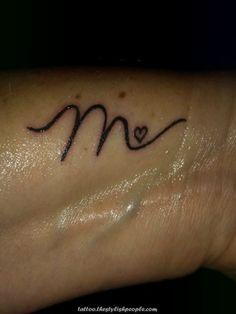 """M"" initial tattoo ""M"" initial tattoo This image has 39 repetitions . - ""M"" initial tattoo ""M"" initial tattoo This image has 39 repetitions. A … – ""M"" initial tattoo "" - Finger Tattoos, Body Art Tattoos, Sleeve Tattoos, Letter M Tattoos, Initial Tattoos, Pretty Tattoos, Cool Tattoos, Tatoos, Tattoos For Women Small"