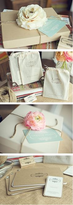The Savvy Photographer: ~~ fabulous packaging by Camille Deann Photography - gorgeous gift wrap