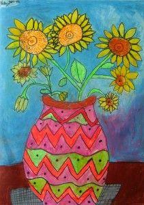 first grade sunflowers