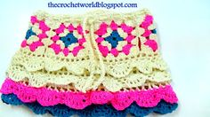 Transcendent Crochet a Solid Granny Square Ideas. Inconceivable Crochet a Solid Granny Square Ideas. Crochet World, Crochet Square Patterns, Crochet Patterns For Beginners, Crochet Chart, Point Granny Au Crochet, Square Skirt, Skirt Pattern Free, Free Pattern, Crochet Skirts