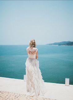 Valentino Lace & Ruffled Silk Organza Wedding Dress // Nearly Newlywed