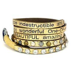 Metallic YOU ARE BEAUTIFUL Divine Bracelet