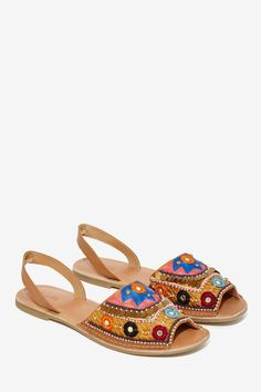 Brock Beaded Leather Sandal