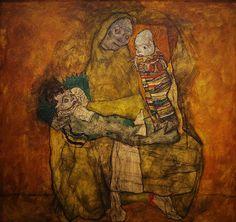 Egon Schiele: Mère avec deux enfants III » de 1917