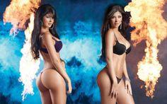 Модели-близняшки Mariana и Camila Davalos
