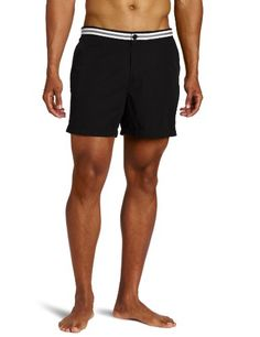 Fred Perry Men's Tape Waistband Short, Black, « Impulse Clothes