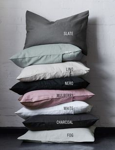 Id like them all! Abode Living - Bed Linen - Citi Pure Italian Stonewashed Bed Linen - Abode Living
