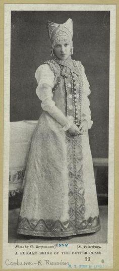 1902年、ロシアの上流階級の花嫁。