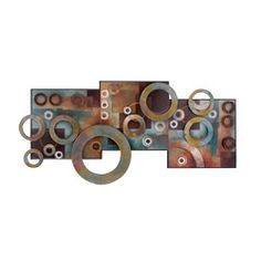 @Overstock - Eye-catching colors highlight this three-dimensional wall plaque. This metal art plaques feature abstract circle designs that gives any room a new meaning.http://www.overstock.com/Home-Garden/Metal-and-Wood-Abstract-Circle-Wall-Art-Decor-Plaque/6615605/product.html?CID=214117 $89.99