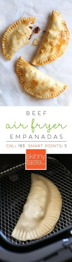 Air Fryer Beef Empanadas are easy, quick and made with no oil! Air Fryer Beef Empanadas are easy, quick and made with no oil! Air Fryer Oven Recipes, Air Fry Recipes, Ww Recipes, Mexican Food Recipes, Cooking Recipes, Healthy Recipes, Healthy Meals, Spanish Recipes, Recipies