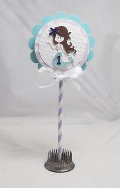 Mermaid 1st Birthday Smash Cake Topper by PartyDecorandMoore