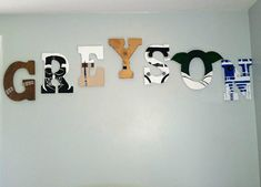 Hand Painted 9 Star Wars Inspired Letters!!! **These Letters Are  Customized. Boys Room IdeasPlayroom ...