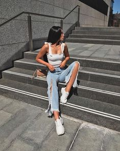 Summer 2018 street style trends and outfits Mode Outfits, Trendy Outfits, Summer Outfits, Fashion Outfits, Fashion Trends, Fashion Killa, Look Fashion, Looks Style, My Style
