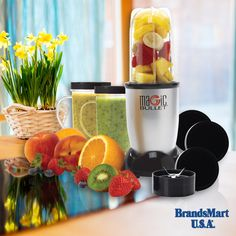 11 Piece Magic Bullet® Set. Mix Healthy Fruit Smoothies for One Low Low Price. With the easy-to-use Magic Bullet, you can make delicious party dips like salsa, guacamole and bean dip, refreshing healthy smoothies and more. All with virtually no effort and no clean up and all in 10 seconds or less! - Home - Kitchen - Smoothie - Fruit - Healthy - New Year - Deals - Food - Appliances