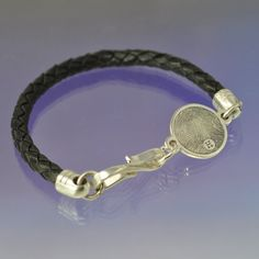 Personalised Fingerprint Bracelet Silver and leather by chrisparry, £165.00
