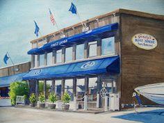 Pat Heintzelman Watercolors: Gordy's Boat House Restaurant in Fontana, Wisconsi...