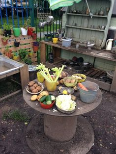 Incredible mud kitchen and do not worry about the mess.