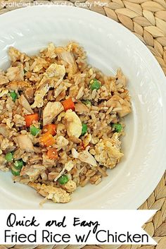 Super Easy Fried Rice w/ chicken recipe