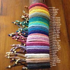 Handmade Hemp Friendship Bracelet or Anklet by PurpleowlProducts