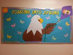 Group Eagle Bulletin Board with Patterned Feathers (Art is Basic ...