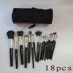 mac black 18 pcs brushes set with black bucket Macca876 Discount in Mac Cosmetics canada