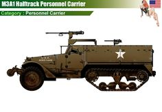 M3A1 Halftrack Personnel Carrier