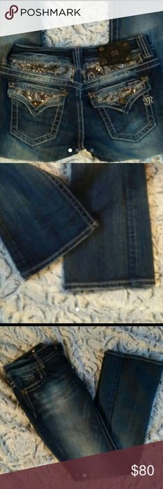 Excellent condition Miss Me size 26 Perfect condition Miss Me brand jeans bootcut style Size 26/31 Bottoms perfect... Zipper perfect... No stones missing... Many more size 26 to come that are new with tags!! These were taken care of like my  babies... Just a little big on me now & am cleaning out closet  Over 600 items I am switching over to posh over next few days to week so keep an eye out for miss me big star true religion Adidas Nike Columbia Patagonia Bufflao Victoria's Secret PINK and…