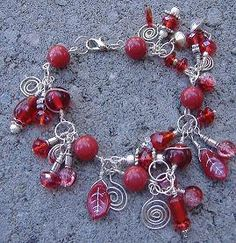 Cherry Fizz Dazzling Red Wire Wrapped Silver by CinnamonLotus, $20.00