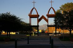 Crosses in Downtown Las Cruces, New Mexico