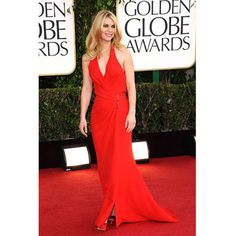 Claire Danes on the red carpet at The Golden Globe Awards 2013