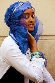 Natural hair & a #hijab
