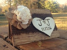 Shabby Chic Ring Bearer Box  Rustic Wedding by CountryBarnBabe, $30.00
