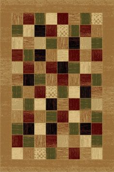 LA Rug 0102-16-2X4 Sequoia Collection Multi-Color