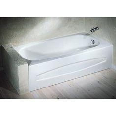 American Standard Cadet Curved Acrylic Bath Tub Left